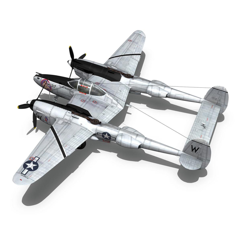 lockheed p-38 lightning – wicked woman 3d model fbx lwo lw lws obj c4d 303816