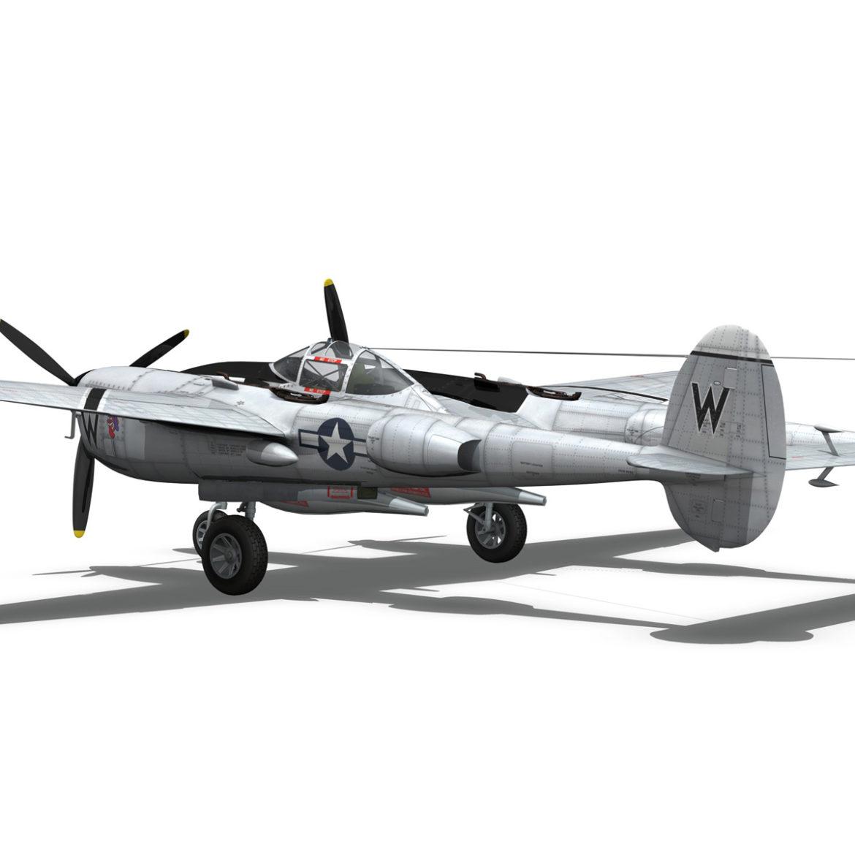 lockheed p-38 lightning – wicked woman 3d model fbx lwo lw lws obj c4d 303817
