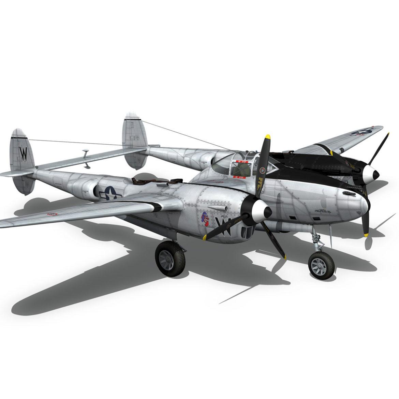 lockheed p-38 lightning – wicked woman 3d model fbx lwo lw lws obj c4d 303820