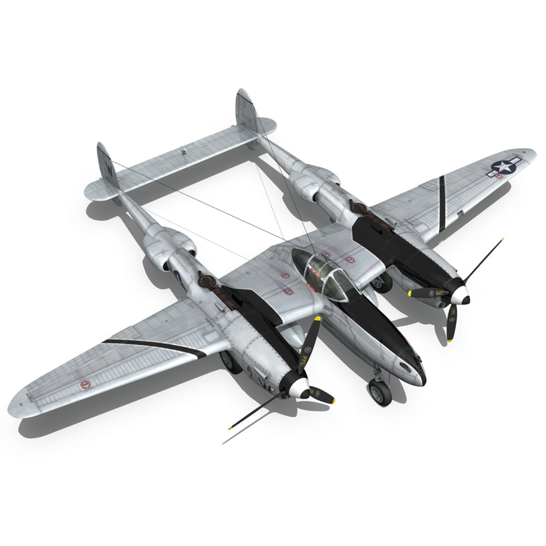 lockheed p-38 lightning – wicked woman 3d model fbx lwo lw lws obj c4d 303821