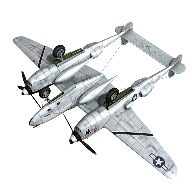 lockheed p-38 lightning – wicked woman 3d model fbx lwo lw lws obj c4d 303823