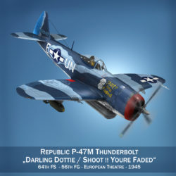 republic p-47m thunderbolt – darling dottie 3d model 3ds c4d lwo lw lws obj fbx 303856