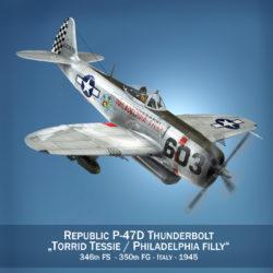 köztársaság p-47d villámcsap - torrid tessie 3d modell 3ds c4d lwo lws lws obj fbx 303862
