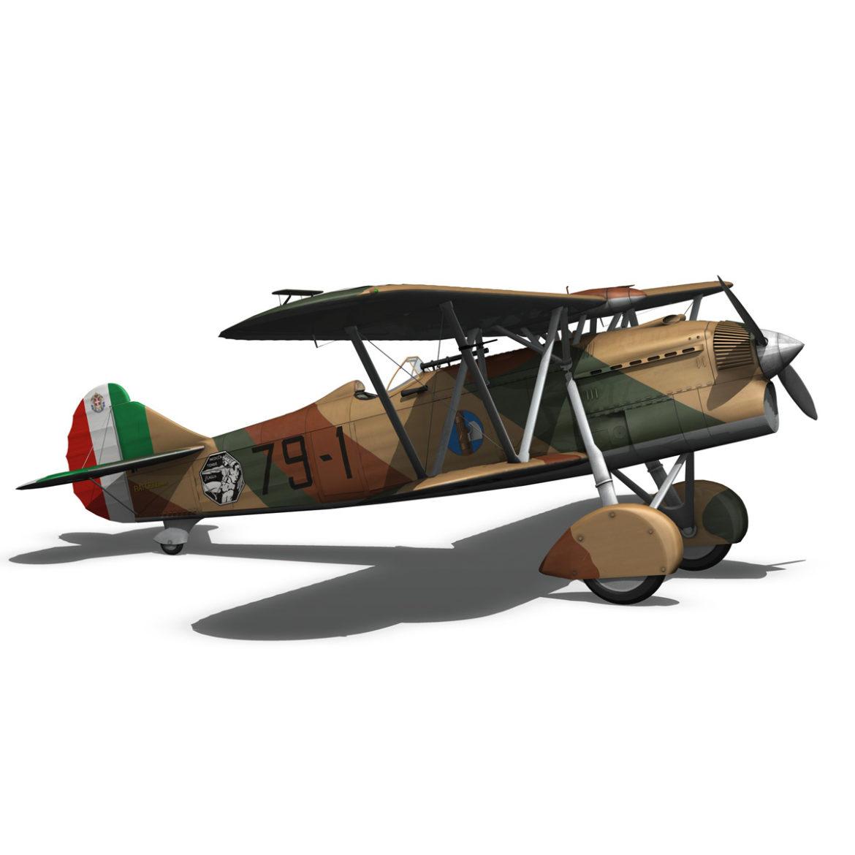 fiat cr.32 - fórsa aerálach - 79 squadriglia 3d model fbx lwo lw lws obj cxNUMXd 4