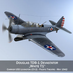 douglas db-1 devastator - T1 3d model 3ds c4d fbx lwo lw lw obj 303948