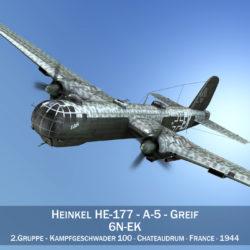 heinkel sé-177 - greif - 6nek múnla 3d 3ds c4d fbx lwo lw lws obj 303971