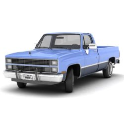 generic pickup truck 3 3d model max 3ds obj fbx jpeg 304042