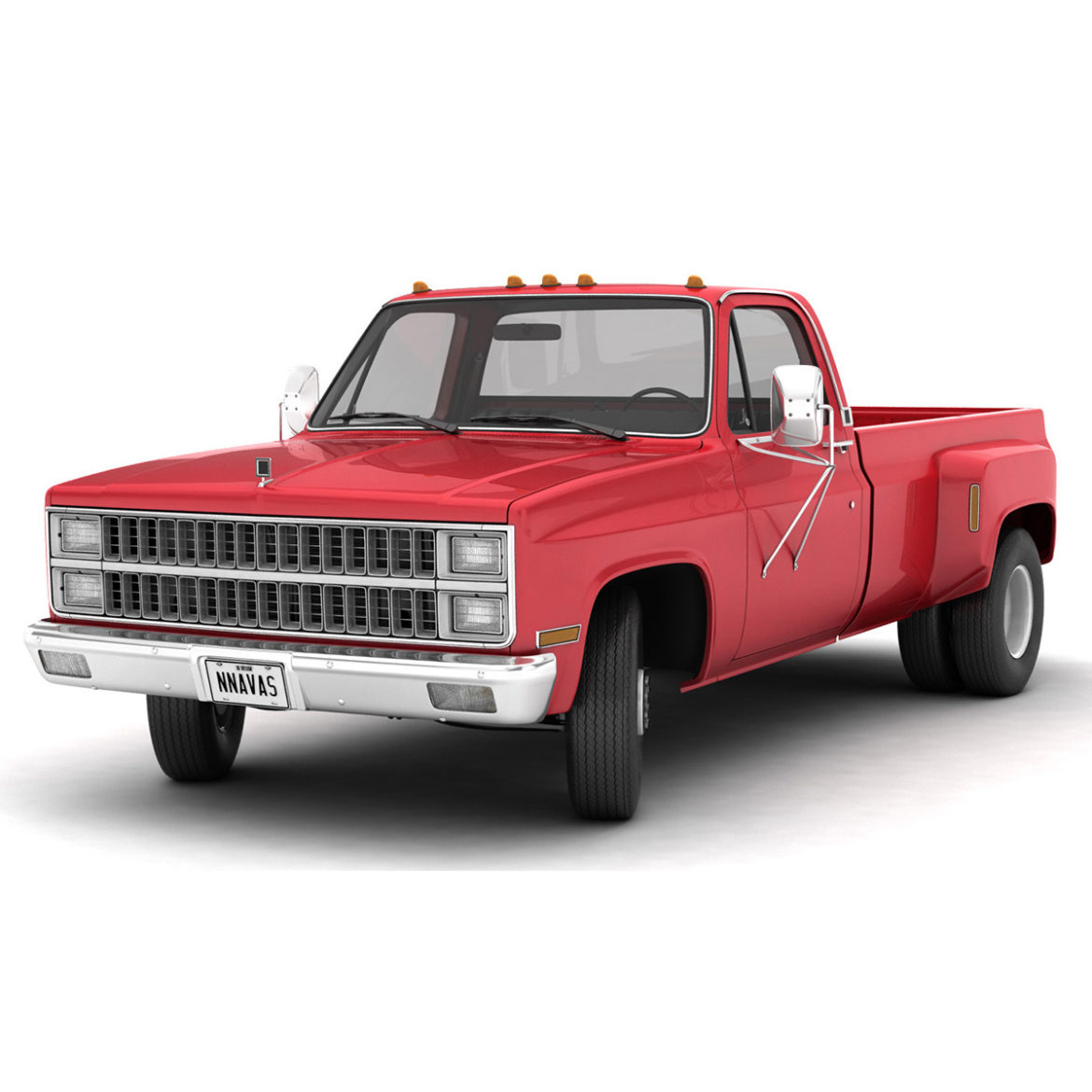 generic dually pickup truck 2 3d model 3ds max fbx obj 304043