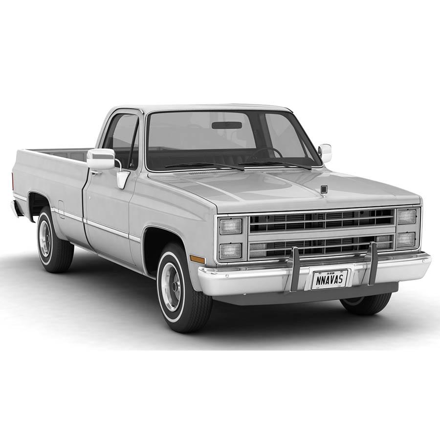 generic pickup truck 1 3d model 3ds max fbx obj 304044