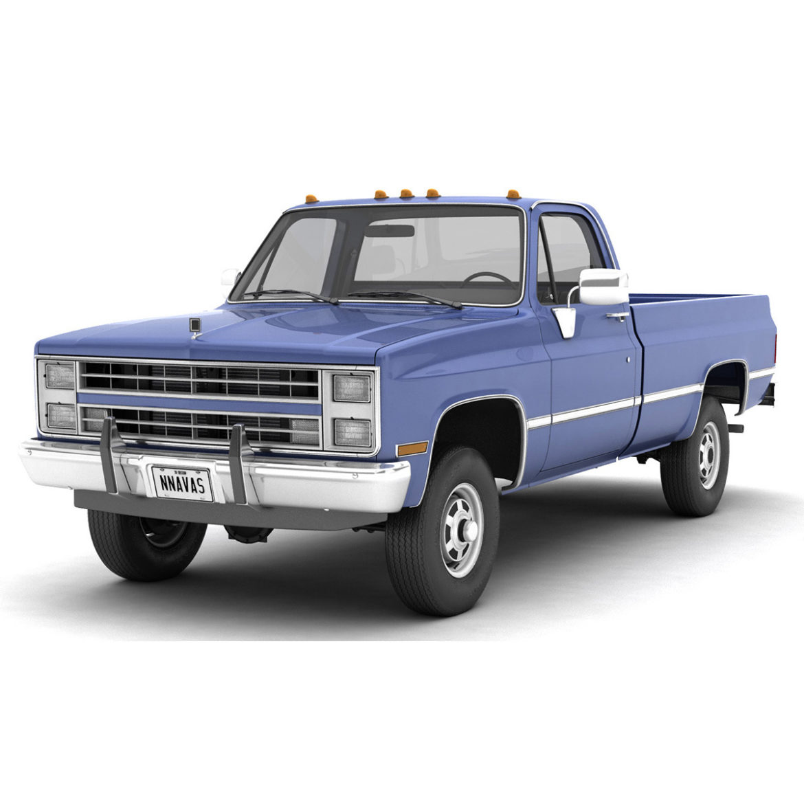generic 4wd pickup truck 4 3d model max 3ds obj fbx jpeg 304168