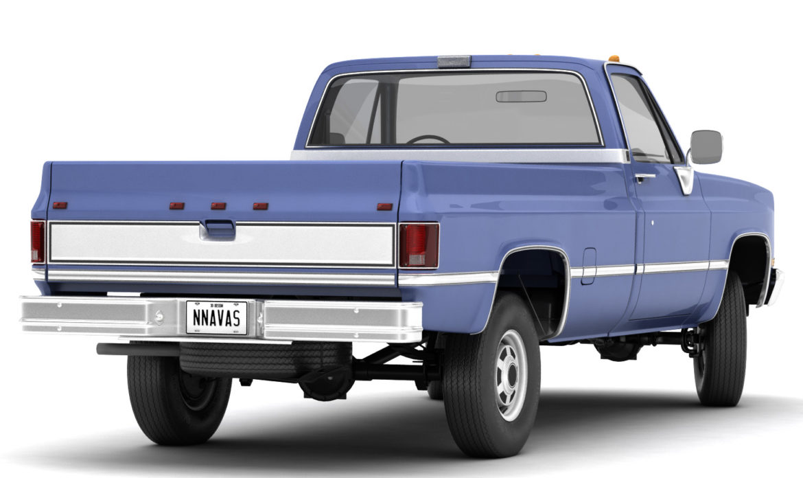 generic 4wd pickup truck 4 3d model max 3ds obj fbx jpeg 304174