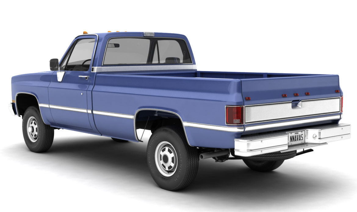 generic 4wd pickup truck 4 3d model max 3ds obj fbx jpeg 304175