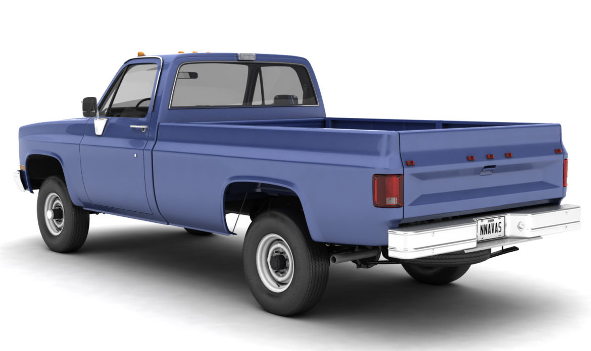 generic 4wd pickup truck 4 3d model max 3ds obj fbx jpeg 304187