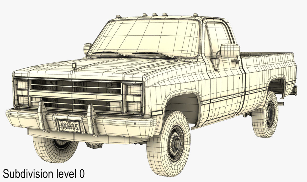 generic 4wd pickup truck 4 3d model max 3ds obj fbx jpeg 304189