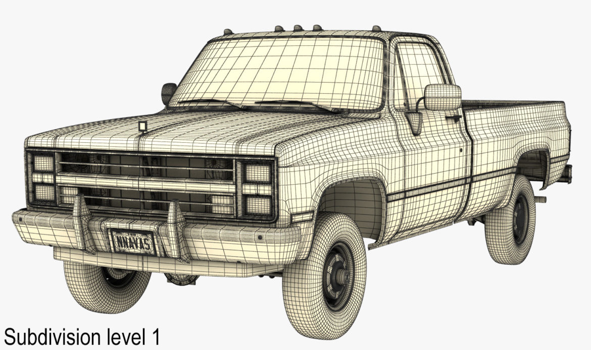 generic 4wd pickup truck 4 3d model max 3ds obj fbx jpeg 304190