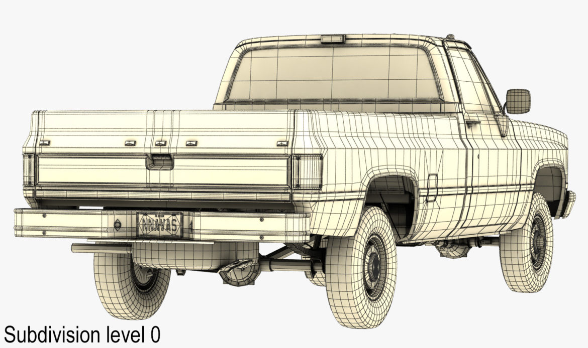 generic 4wd pickup truck 4 3d model max 3ds obj fbx jpeg 304191