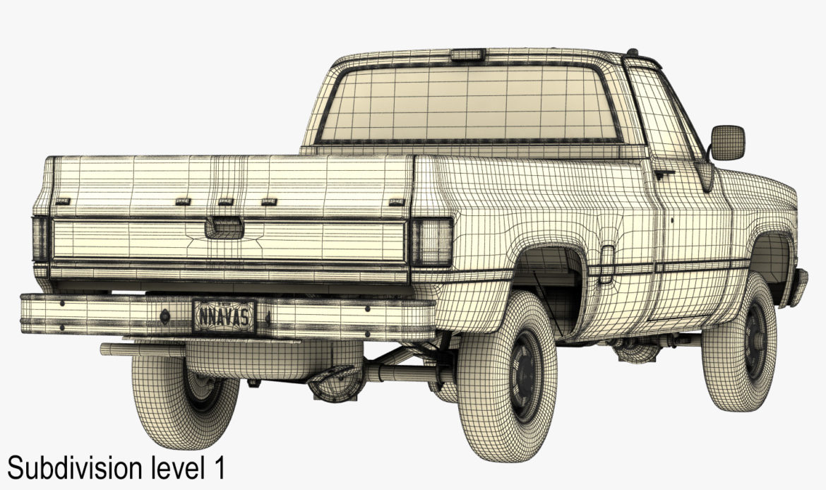 generic 4wd pickup truck 4 3d model max 3ds obj fbx jpeg 304192