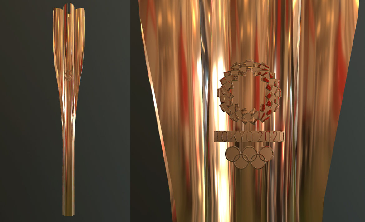 tokyo 2020 olympic torch 3d model ther obj max fbx 3ds 304244