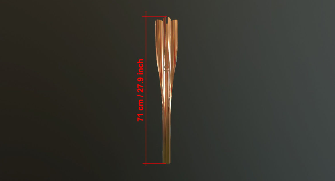 tokyo 2020 olympic torch 3d model ther obj max fbx 3ds 304250