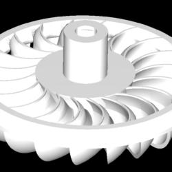 turgo turbine 3d model obj 304260