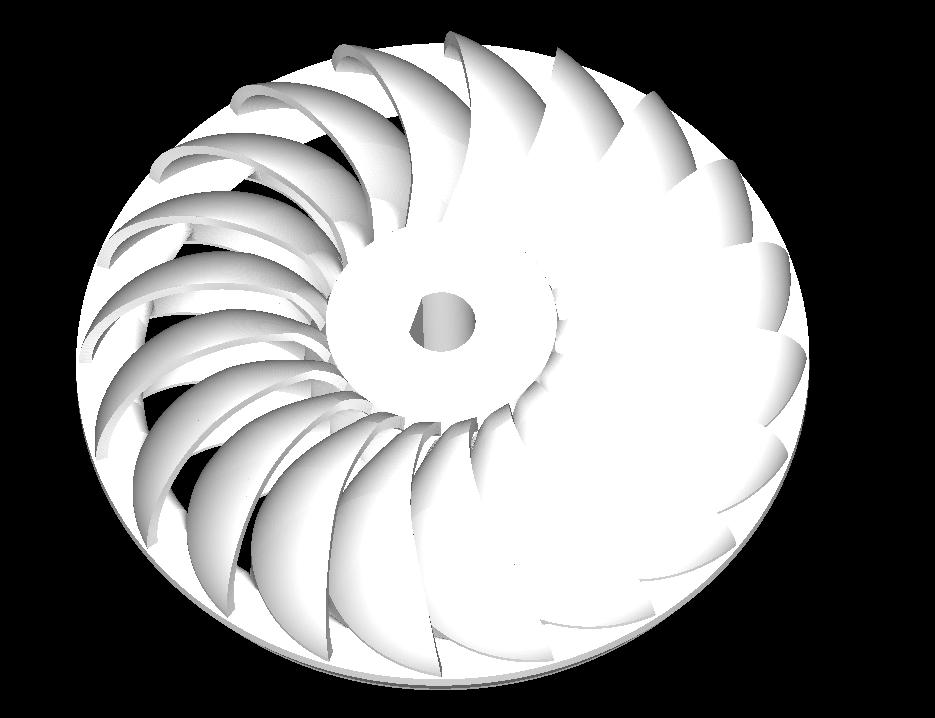 turgo turbine 3d model obj 304261