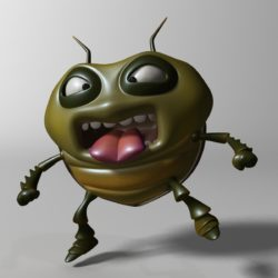 bug cartŵn wedi'i rigio â model 3d 3ds max fbx obj 304319