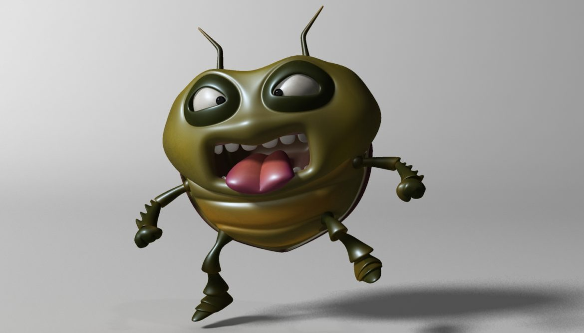 cartoon bug rigged 3d model 3ds max fbx  obj 304320