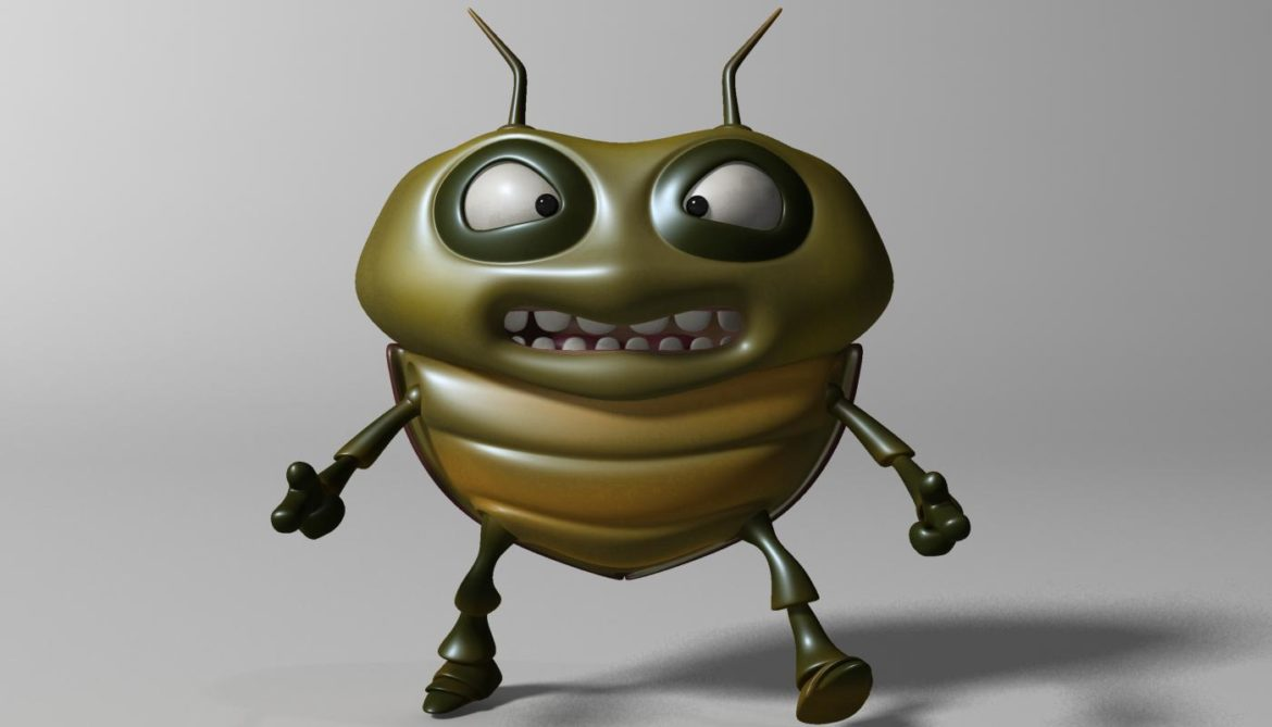cartoon bug rigged 3d model 3ds max fbx  obj 304321