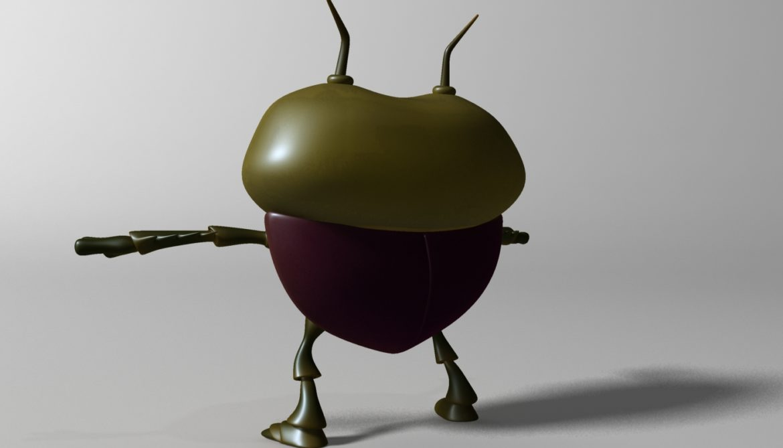 cartoon bug rigged 3d model 3ds max fbx obj stl 304322