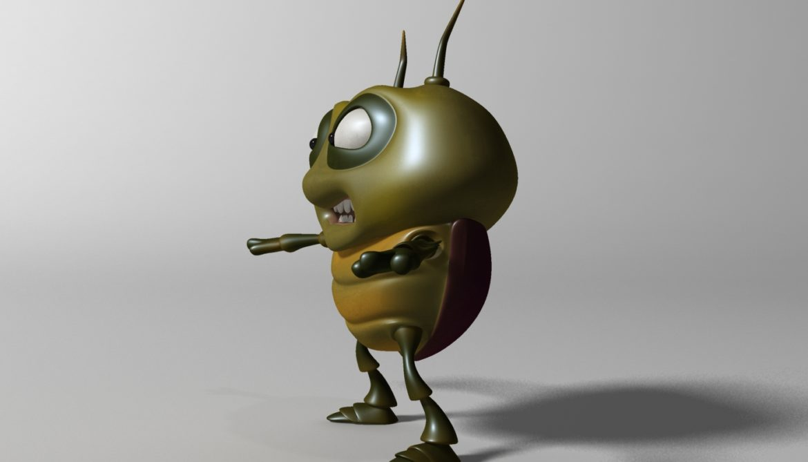 cartoon bug rigged 3d model 3ds max fbx  obj 304323