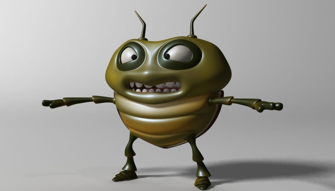 cartoon bug rigged 3d model 3ds max fbx  obj 304324