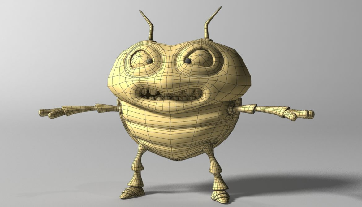 cartoon bug rigged 3d model 3ds max fbx  obj 304325