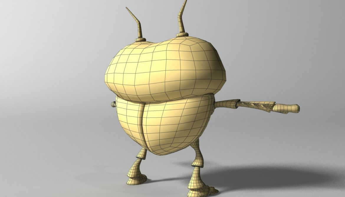 cartoon bug rigged 3d model 3ds max fbx  obj 304327