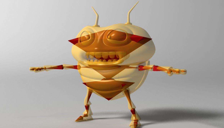 cartoon bug rigged 3d model 3ds max fbx obj stl 304330