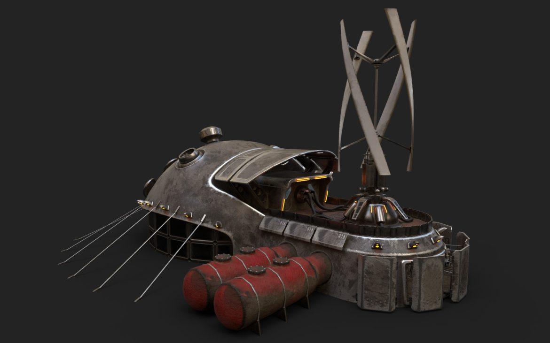 sci-fi building 1901 electric generator 3d model obj max fbx obj stl 304363