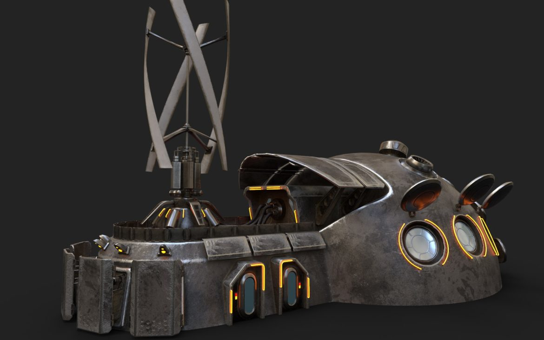 sci-fi building 1901 electric generator 3d model obj max fbx obj stl 304364