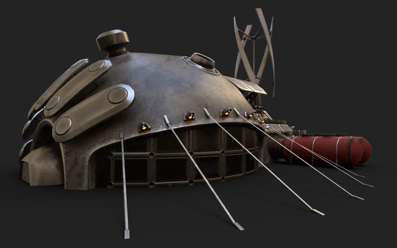 sci-fi building 1901 electric generator 3d model obj max fbx obj stl 304367