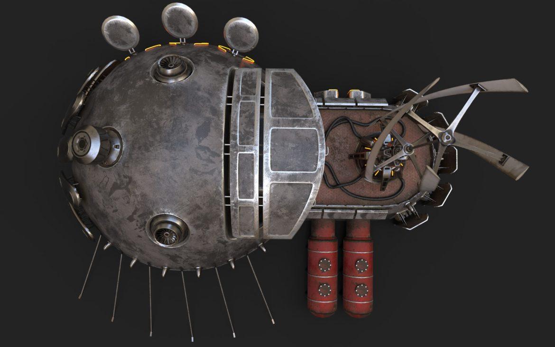sci-fi building 1901 electric generator 3d model obj max fbx obj stl 304368
