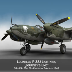 lockheed p-38 lightning – journeys end 3d model fbx lwo lw lws obj c4d 304422