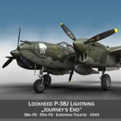 lockheed p-38 villámlás - utazások vége 3d fbx lwo lw lws objektum c4d 304422