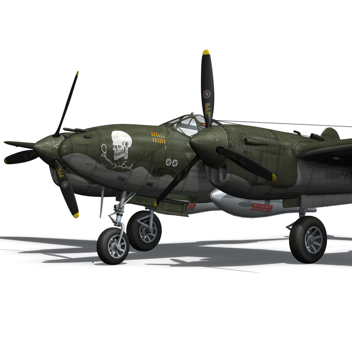 lockheed p-38 lightning – journeys end 3d model fbx lwo lw lws obj c4d 304423