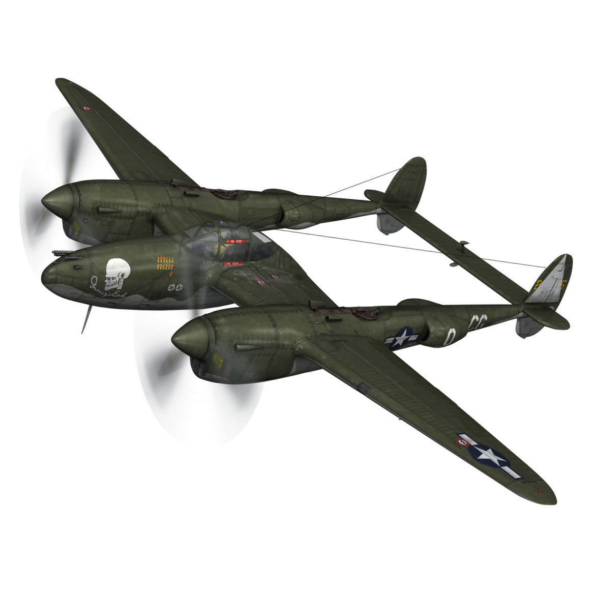 lockheed p-38 lightning – journeys end 3d model fbx lwo lw lws obj c4d 304425