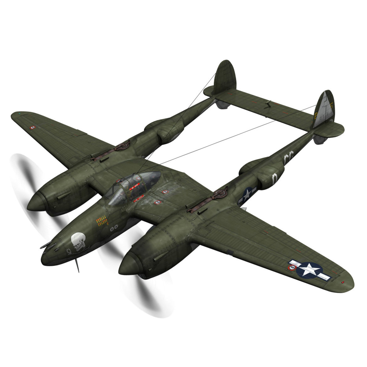 lockheed p-38 lightning – journeys end 3d model fbx lwo lw lws obj c4d 304426