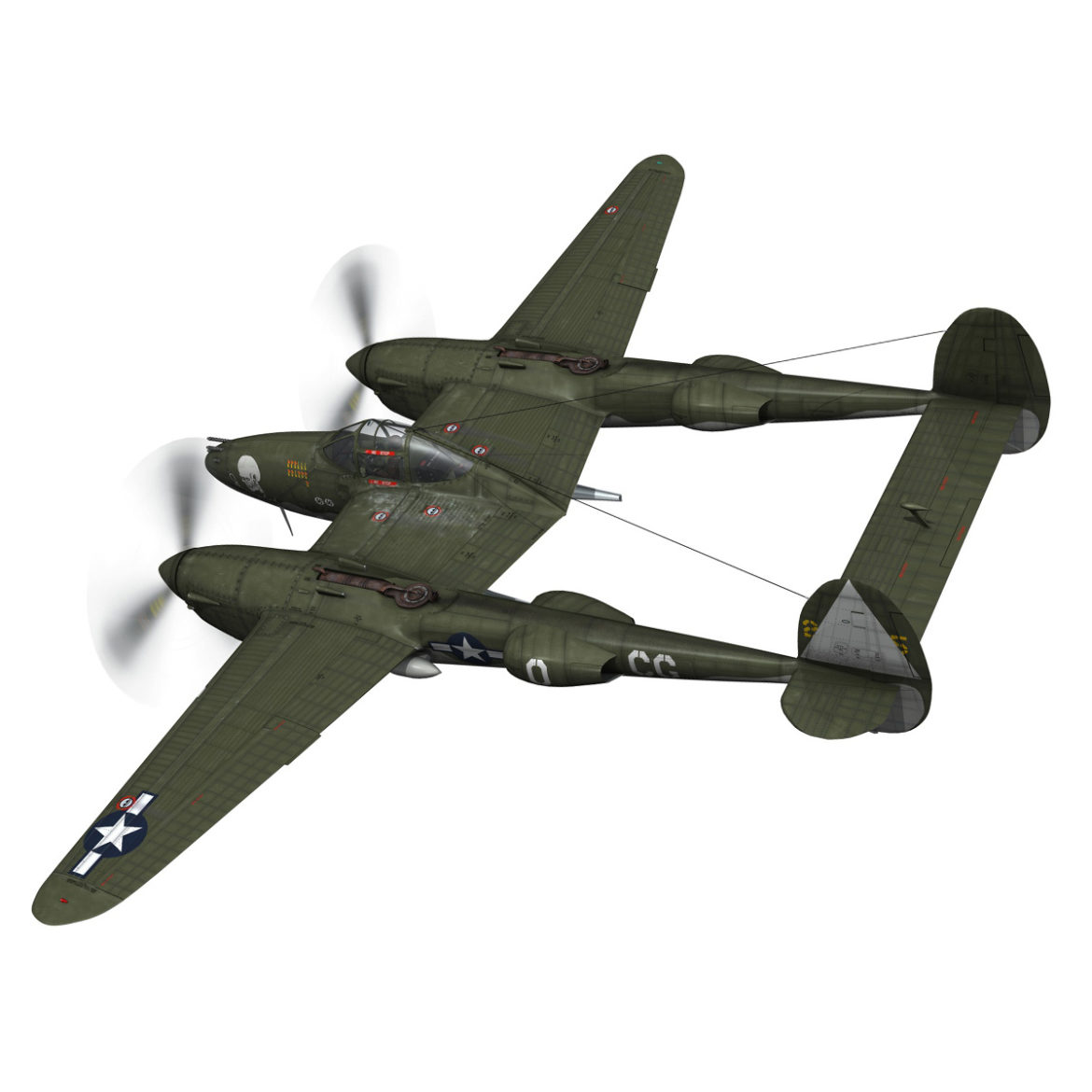 lockheed p-38 lightning – journeys end 3d model fbx lwo lw lws obj c4d 304427