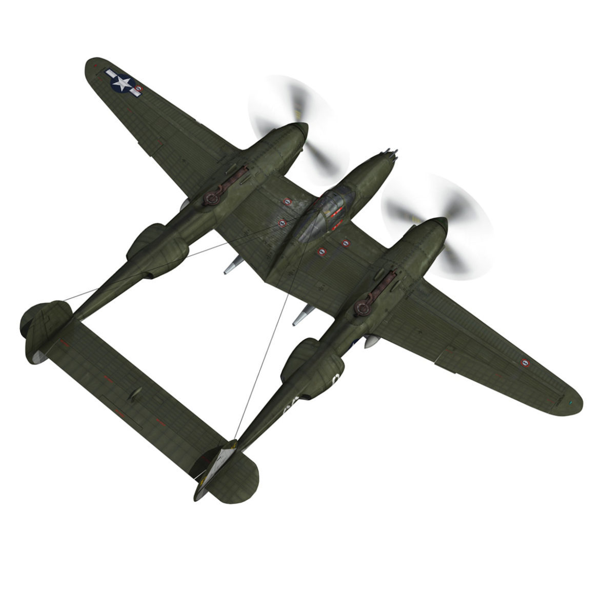 lockheed p-38 lightning – journeys end 3d model fbx lwo lw lws obj c4d 304428
