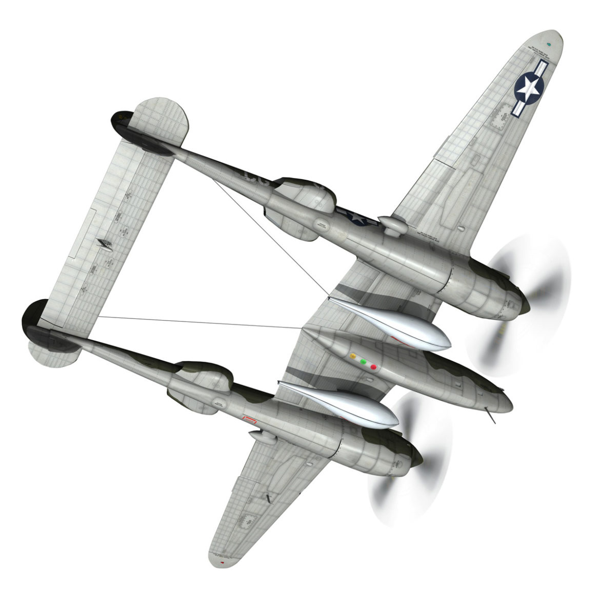 lockheed p-38 lightning – journeys end 3d model fbx lwo lw lws obj c4d 304429