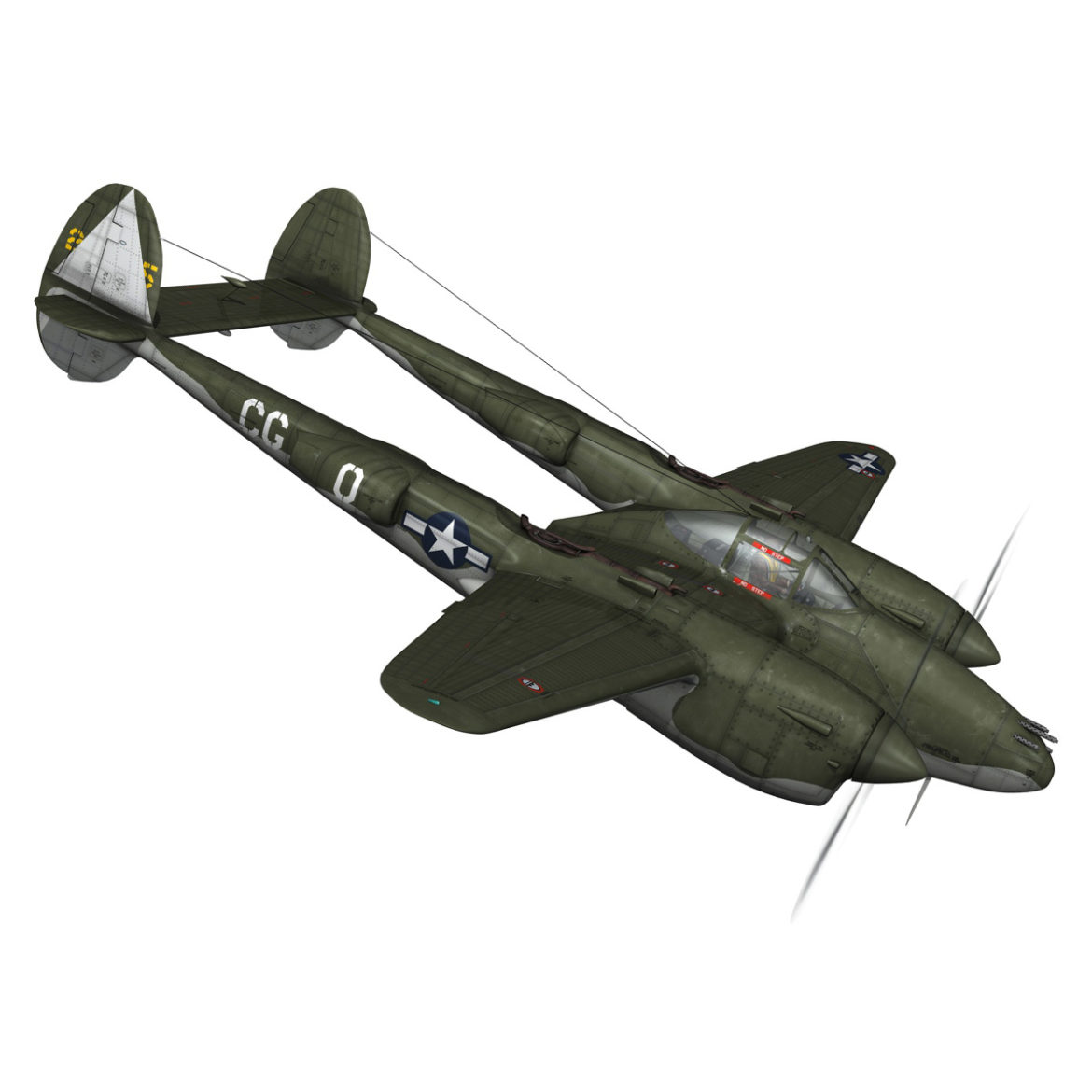 lockheed p-38 lightning – journeys end 3d model fbx lwo lw lws obj c4d 304432