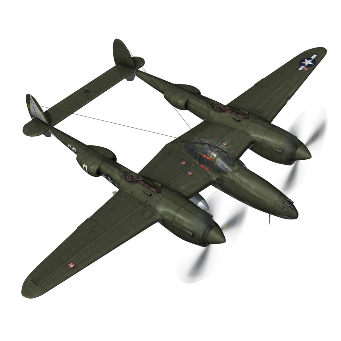 lockheed p-38 lightning – journeys end 3d model fbx lwo lw lws obj c4d 304433