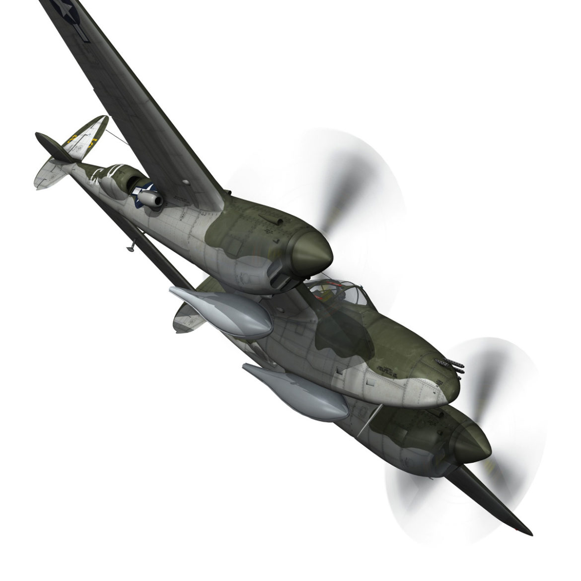 lockheed p-38 lightning – journeys end 3d model fbx lwo lw lws obj c4d 304434