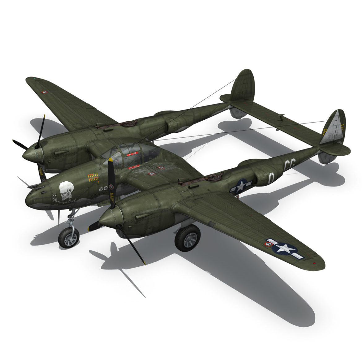 lockheed p-38 lightning – journeys end 3d model fbx lwo lw lws obj c4d 304435